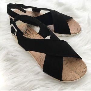 Circus by Sam Edelman Black Ozzie Flat Sandals